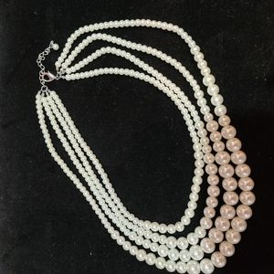 """Pearl 4 strand 20"""" necklace"""